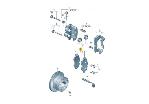 Колодки тормозные передние 3.0т-3.5т Textar 2919202