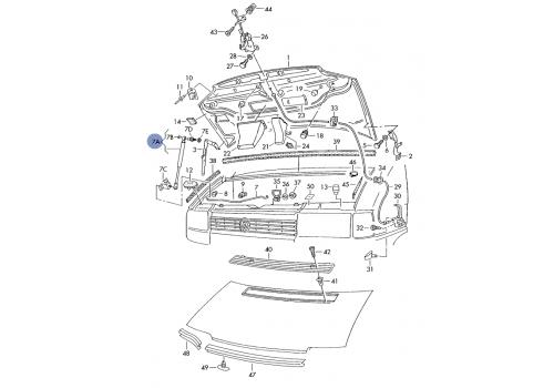 Амортизатор на капот Magneti marelli 430719075200