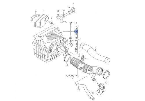 Фильтр воздушный квадратный 95 Knecht (Mahle Filter) LX537