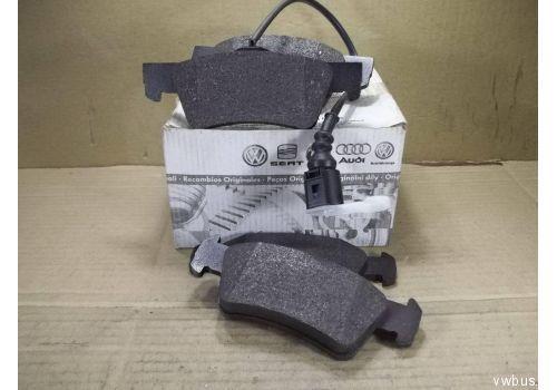 Колодки тормозные задние Фольксваген Т5 R16 с датчиком подвеска усиленная VAG 7H8698451